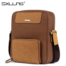Brand Handbag Sxllns Briefcases Men Shoulder Bags Men's Messenger Bag Casual Travel Bag Vintage Crossbody Bag Free Shipping