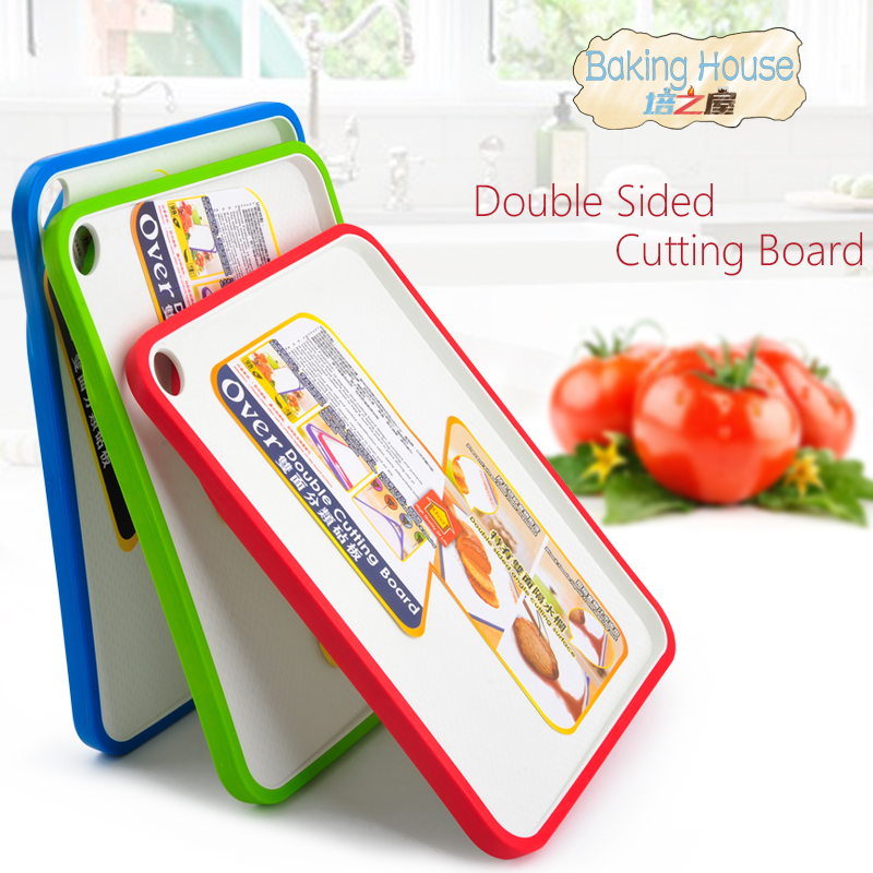 Double sided Cutting Board Non Slip Plastic Kitchen Cutting Chopping Board Blocks double side angle