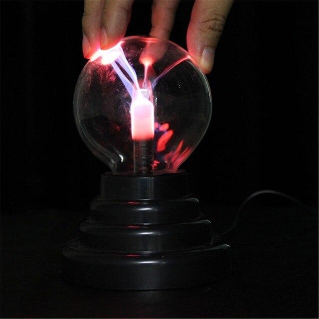 Gloednieuwe Grappige USB Transparante Plasma Bal Bol Verlichting ...