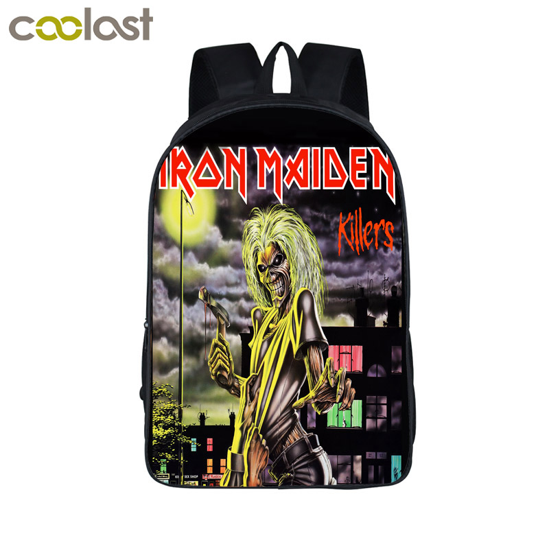 Band Iron Maiden Backpack Metallica Punk Backpack Men Women Guns N' Roses Street Rock Backpacks For Teenage Hip Hop School Bags guns n roses appetite for democracy live at the hard rock casino las vegas