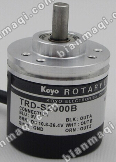 The new TRD-S2000B KOYO Koyo rotary encoder shaft diameter 6mm outer diameter of 38mm solid shaft new bes50 08s6h 360 rotary encoder shaft diameter 50mm outer diameter 8mm 360 line
