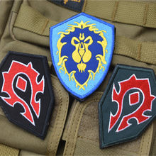 WOW World Alliance / Horde forces camp -sided embroidery patch badge armband morale tactical patches(China)