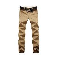2016 Summer Autumn Casual Mens Pants Good Quality Full Length Men Trousers Slim Fit Designer Khaki