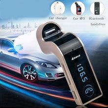 Bluetooth Manos Libres Kit de Coche transmisor inalámbrico de FM reproductor de música MP3 soporte de tarjeta TF USB 3.5mm cable de audio se conecta USB de carga