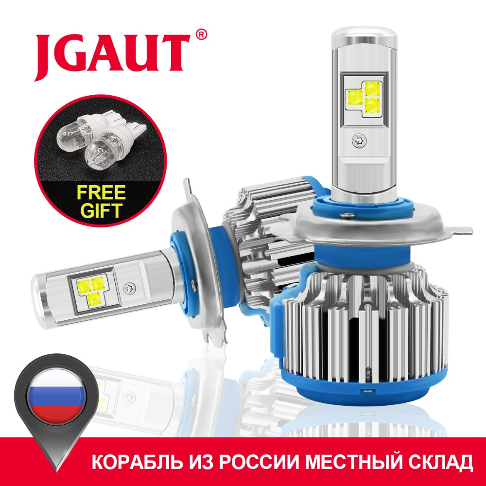 JGAUT T1 H4 Led Car Light H7 LED Canbus H1 H3 H11 880 9005 9006 Reflektor TURBO 70W 7000lm Auto Bulb Automobiles Reflektor 6000K