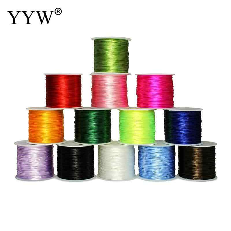 50M 0.8MM Colorful Crystal Beading Stretch Cord Stretchy Elastic String For Jewelry Making DIY Bracelet Wire Fishing Thread Rope