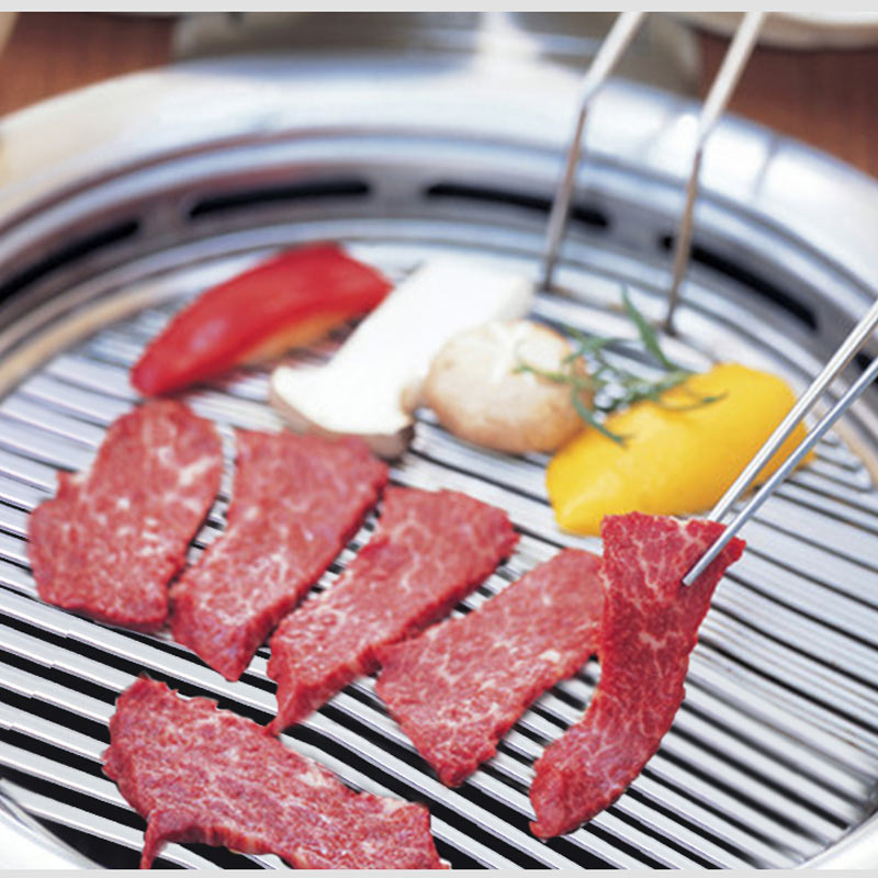 Barbecue Meat Roaster 295mm Diameter Grill Plate Stainless Steel BBQ Grill Net Plates High Quality Barbecue Meat Roaster Grill bbq meat grill 50ml injector syringe marinade seasoning flavor injector