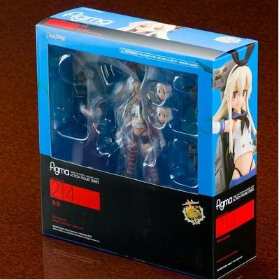 Anime Kantai Collection Shimakaze 214 Figma Action Figure Model Doll Toy 15cm