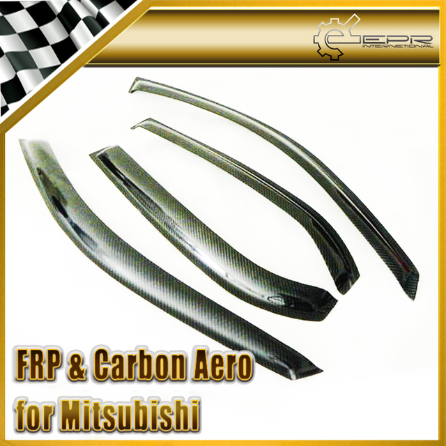 Car Styling Para Mitsubishi Evolución EVO 7 8 9 Carbon Fiber Deflector De Viento