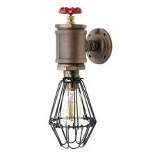 Loft Style SconceOld Bill, Wall Mounted Lamp With Cage, Steam Punk, Industrial Light