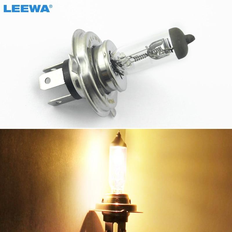 LEEWA 20pcs Warm White Auto H4 DC 24V 70W 100W Halogen Bulb Truck Bus Headlight Foglight