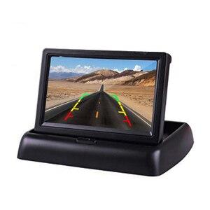 Image 5 - Hikity monitor automotivo, 4.3 polegadas, dobrável, tft, display lcd, câmera reversa, sistema de estacionamento, para monitores de retrovisor/câmera