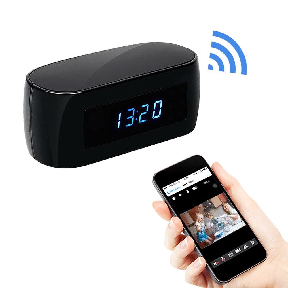 Smart Electronic Clock 1080P Hd Camera Clock Wifi Ip Remote Talkback App Remote Night Vision Home Security Video mini Camera