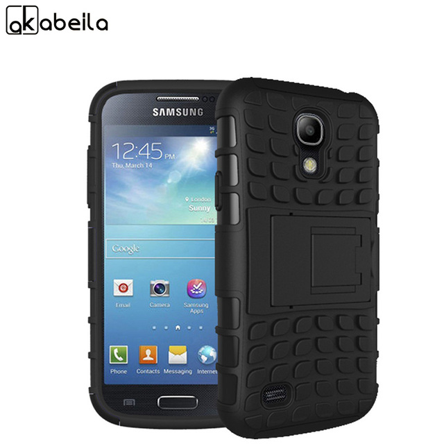 AKABEILA Military Armor Kickstand Phone Case Cover For Samsung Galaxy S4 SIV I9500 I9505 GT-I9500 Case 2 in 1 Hybrid Housing