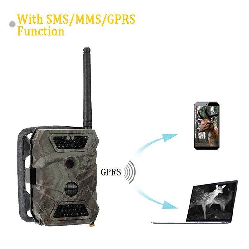 Image 2 - MMS Hunting Camera Trail Hunt Game Recorder 12MP HD Imaging IR LED Light Day & Night Available Forest Scouting Wildlife Camera-in Hunting Cameras from Sports & Entertainment