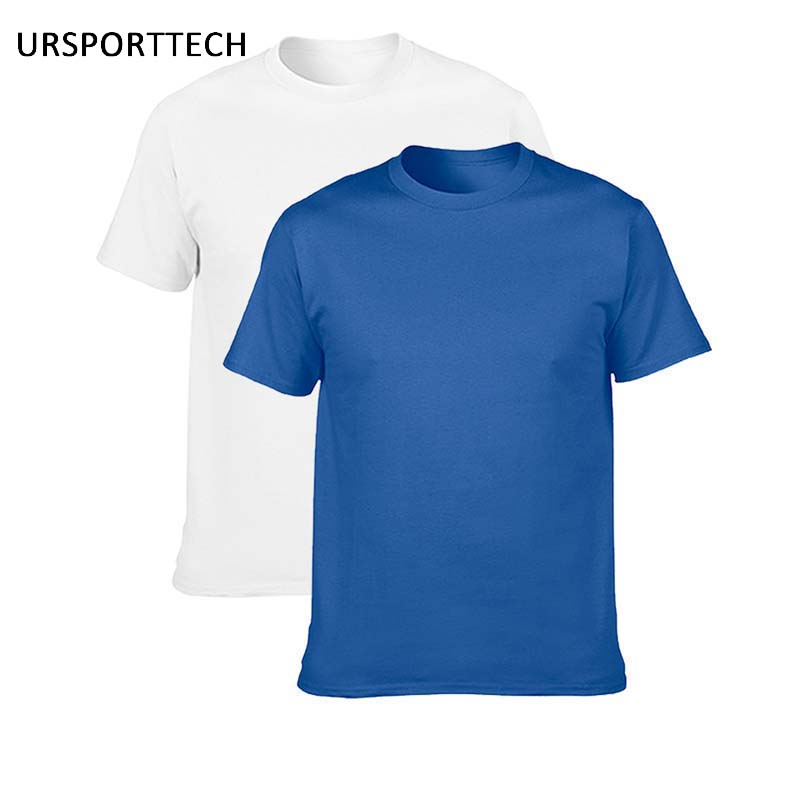 Cumpărați One Get One Gildan bumbac bărbați T-shirt clasic O-gât cu mâneca scurtă cu mantie solidă culoare loose tricou de bază casual bărbați tricou
