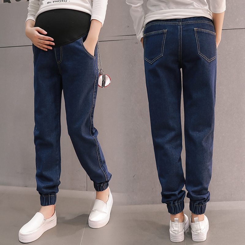 Fashion Pregnant Jeans Maternity Denim Pants Clothes Elastic Pregnancy Belly High Waist Jeans For Pregnant Women Clothing