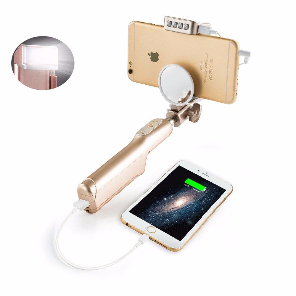 Portabil extensibil Handheld Monopod cu oglindă cu fir Stick Selfie - Camera și fotografia