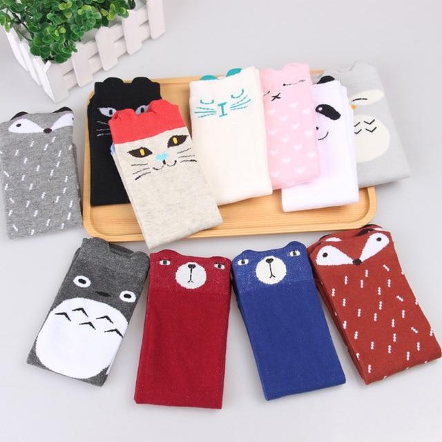 6548a9e66 Kids Knee High Cartoon Animal Socks