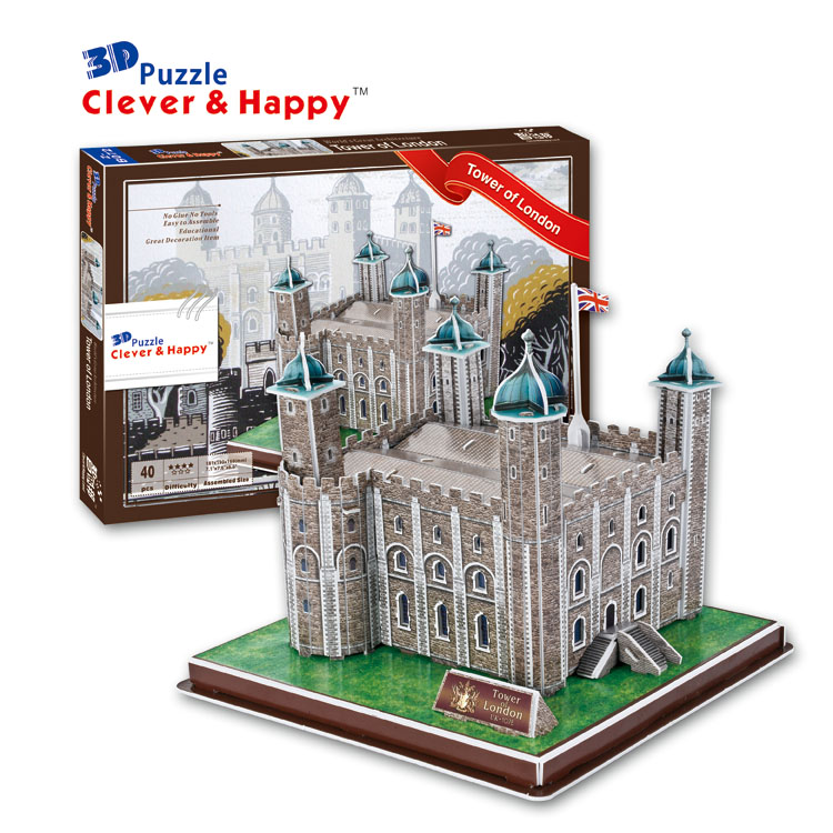 Candice guo 3D puzzle DIY toy paper building model assemble hand work game tower of London UK Architecture kid birthday gift 1pc series s 3d puzzle paper diy papercraft double decker bus eiffel tower titanic tower bridge empire state building