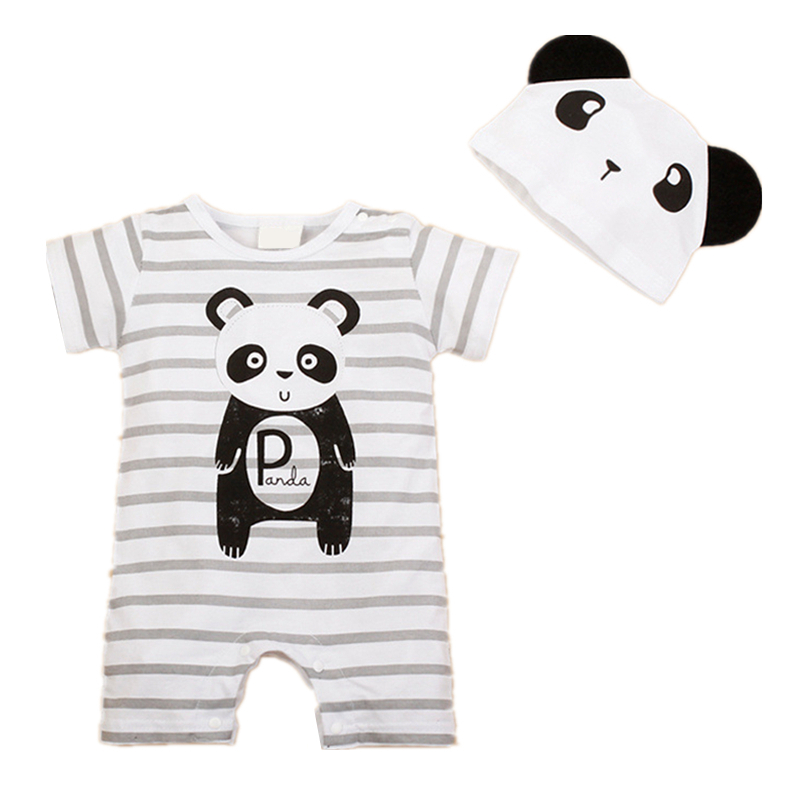 Newborn Baby Rompers Summer Style Baby Girls Clothes 2pcs Animal Cartoon Infant Jumpsuits Ropa Bebes Baby Boy Brand Clothing Set baby girls rompers cotton baby clothes fruit infant jumpsuits hat 2pcs toddler girls clothing set 2017 newborn photography props