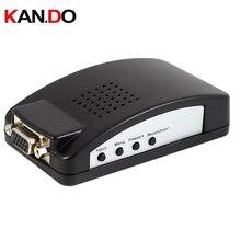7503M for converting Composite Video BNC Composite & S Video to VGA BNC video convertor av switch av transformer AV adapter