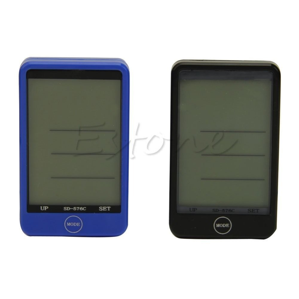 Wireless Bike Bicycle Computer Touch LCD Screen Backlight Speedometer Odometer