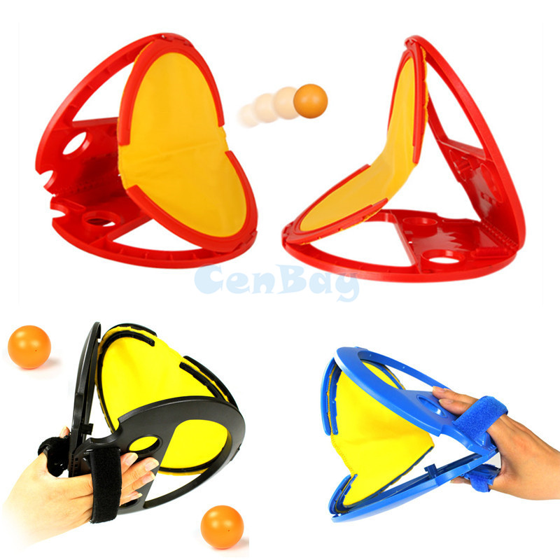 2pcs Hand Throw & Catch Ball Game Outdoor Hand Hold Ball Rackets Sports Toys Family Interactive Beach Garden Ball Game Kids Gift penguin trap on ice interactive family game