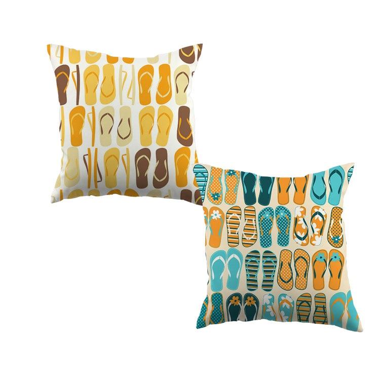 Alle arten von farbe flip-flops hausschuhe Muster Dekorative Wurf Kissenbezug Kopfkissenbezug Der Haus Bettwäsche Sofa