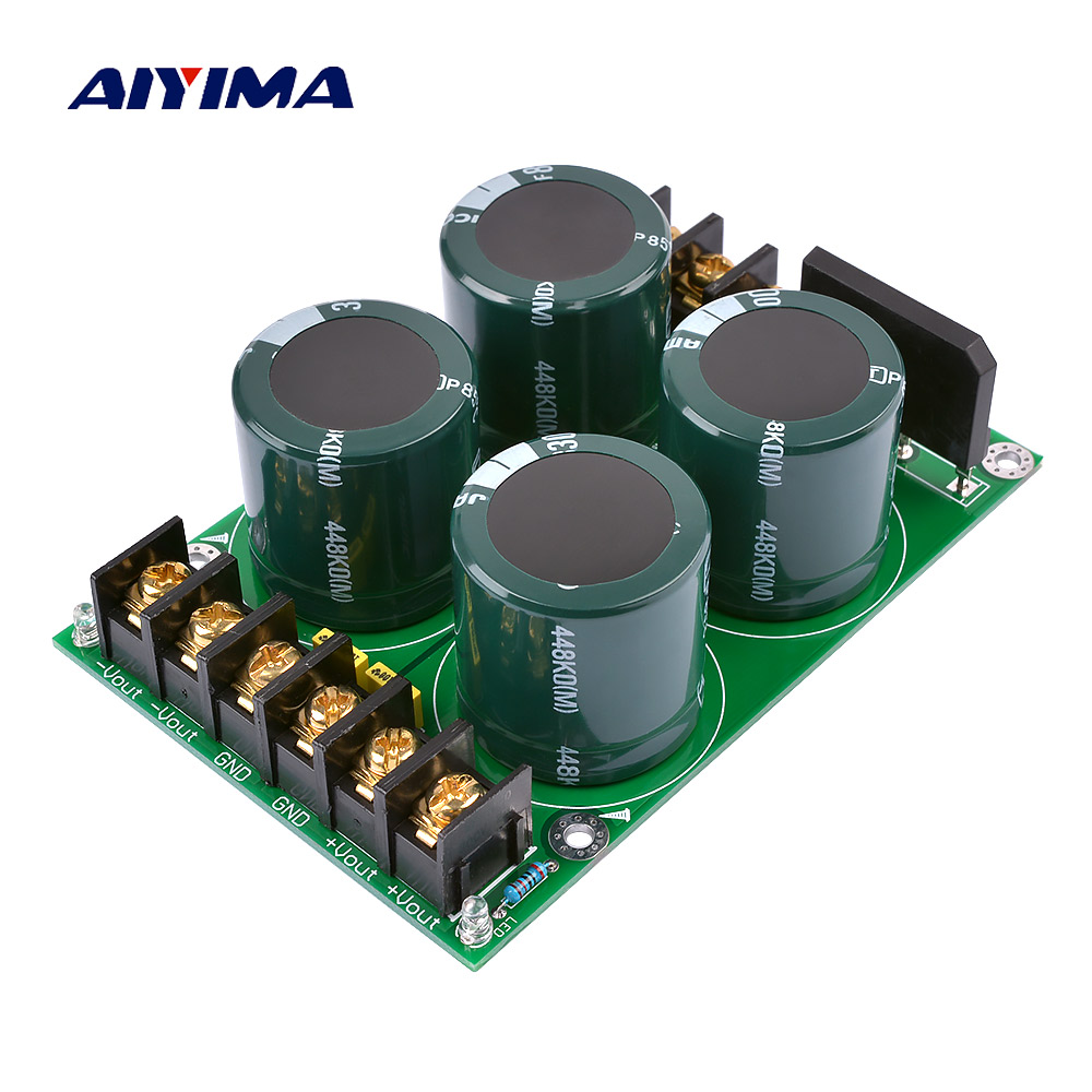 AIYIMA High Power Amplifier Rectifier Filter Fever Capacitor Amplifier Audio Rectifier Power Supply For AMP Audio DIY 80V 3300uf