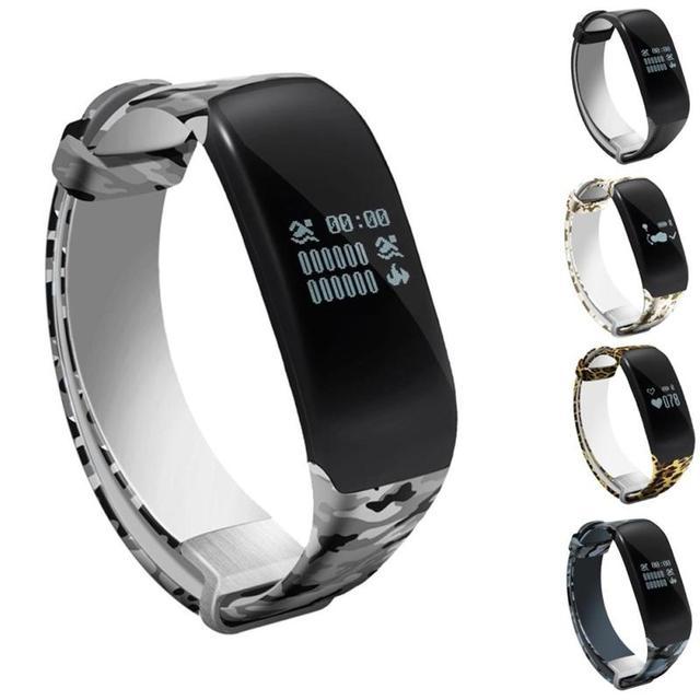 1pc Smart watches wristband  Bracelet Band LED Screen Waterproof Heart Rate Monitor Pedometer Camouflage Bluetooth swim hot H4