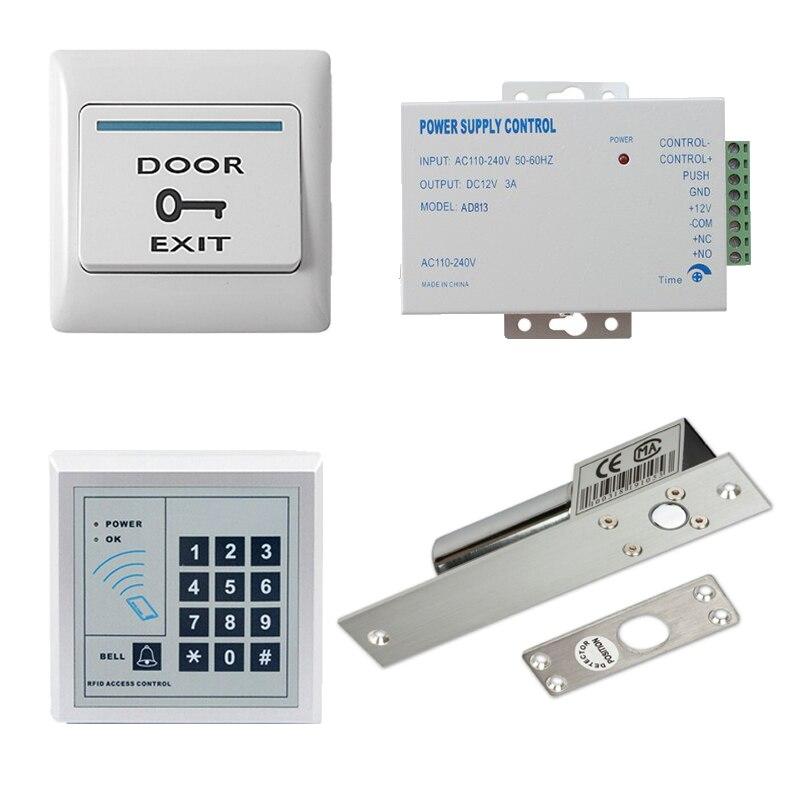 Access control kit standalone access control keypad+electric bolt lock +door exit +power+10 key fobAccess control kit standalone access control keypad+electric bolt lock +door exit +power+10 key fob