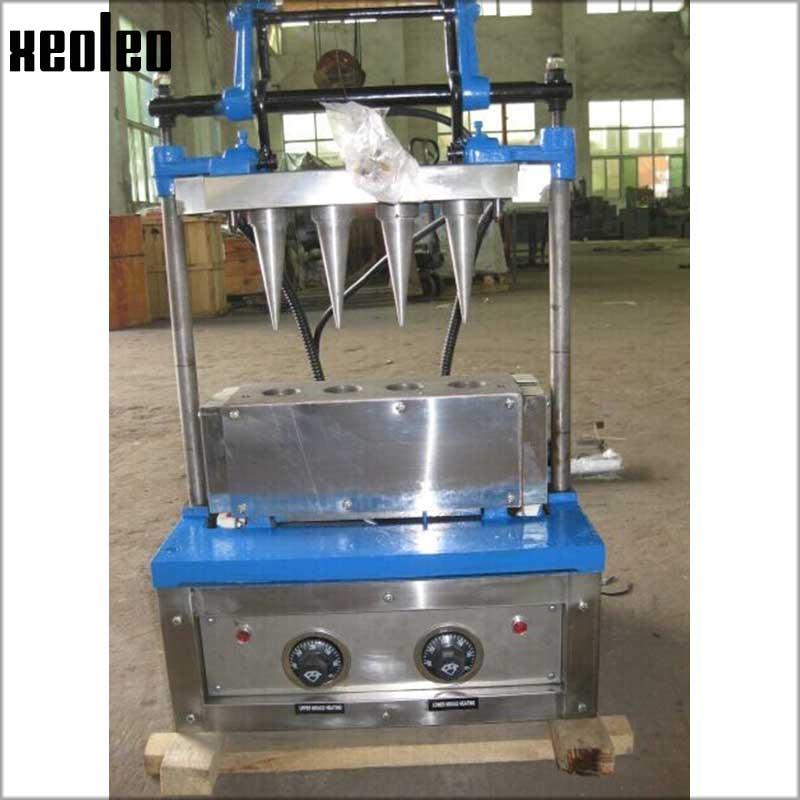 Xeoleo Commercial 4 Heads Cone maker Ice cream Cone machine 100pcs/h 220V 3.6KW Traffic Cones maker for ice cream shop