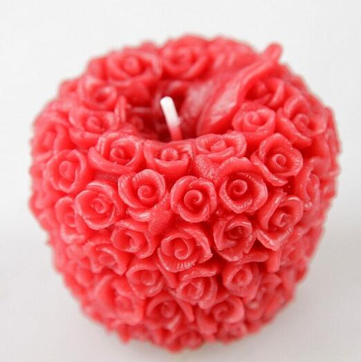 DIY chocolate three dimensional Christmas fruit mold Christmas apple soaps silicone mold candle mold