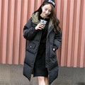 2016 New Fashion Winter Women Down Cotton-padded Coat Hooded Long Warm Jacket Female Zipper Casual Outwear Plus Size ZS101