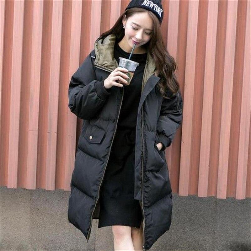 ФОТО 2016 New Fashion Winter Women Solid Cotton-padded Coat Hooded Long Warm Jacket Female Zipper Casual Outwear Plus Size ZS101
