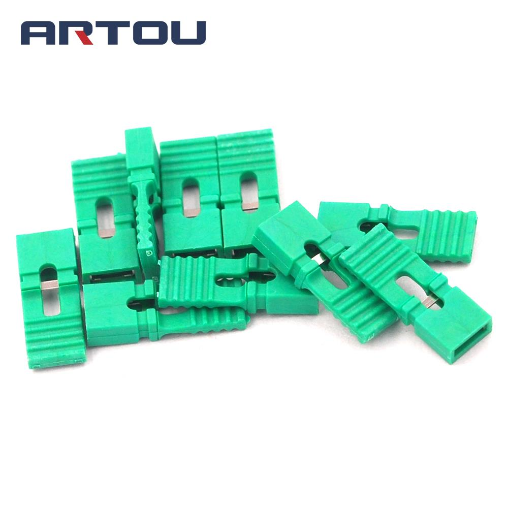 200PCS Lengthened Jumper Cap Long Handle Jumper Cap Green 2.54mm