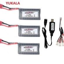 YUKALA original XINLEHONG 9125 Remote Control Rc Car Spare Parts 7.4v 1600mah Li