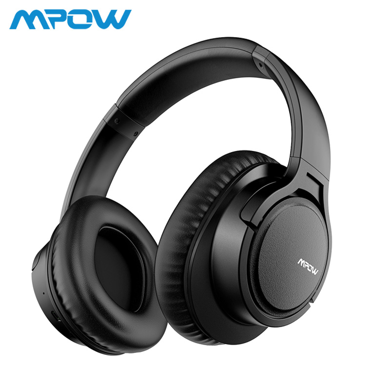 Mpow H7 Wireless/Wired Headphones Bluetooth Headset with Microphone For Tablet TV PC Mobile phones With Soft Protein Earpads mpow 059 bluetooth 4 0 headphones wireless headphone headset with built in mic foldable headband for smartphone pad pc tablet tv