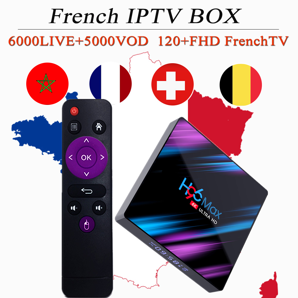 French iptv box android 9 0 tv box europe arabic belgium football france spain germany portugal