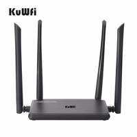 KuWfi Smart Wireless Router 300Mbps Wifi Range Extender WPS Button With 4 Antennas Wifi Repeater IP
