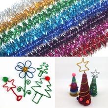 10Pcs Lot 30cm Length Multicolor DIY Plush Twisted Bar Christmas Tree Ornament Children Kids Toy Xmas