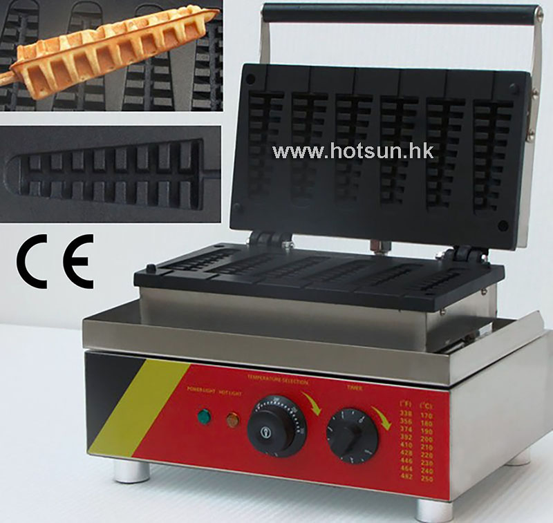 Free Shipping Commercial Belgian Lolly Waffle Stick Maker Iron Baker Mold Plate Machine 110V 220V Electric Nonstick 1pc np 511 110v 220v electric commercial nonstick heart shape lolly waffle stick maker iron machine baker stainless steel 1 5kw