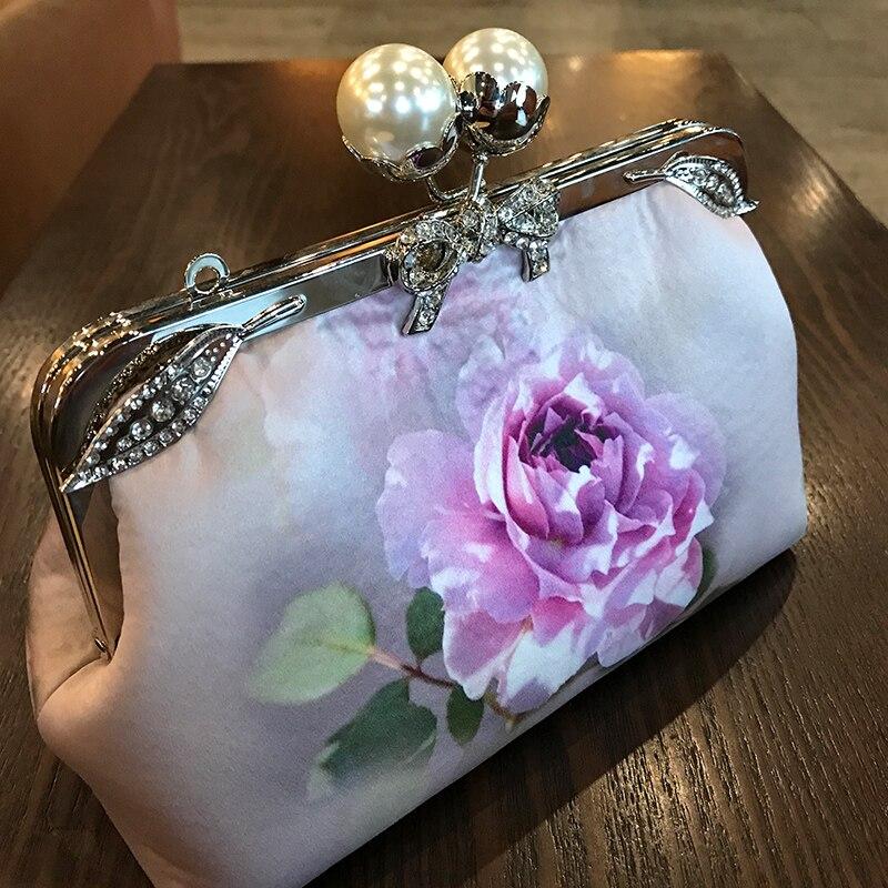 Professionnel fait à la main bricolage artisanat matériel paquet pour mode fleur femmes sac à main (22x14x8 cm) métal-ouverture cadre sac cadeau