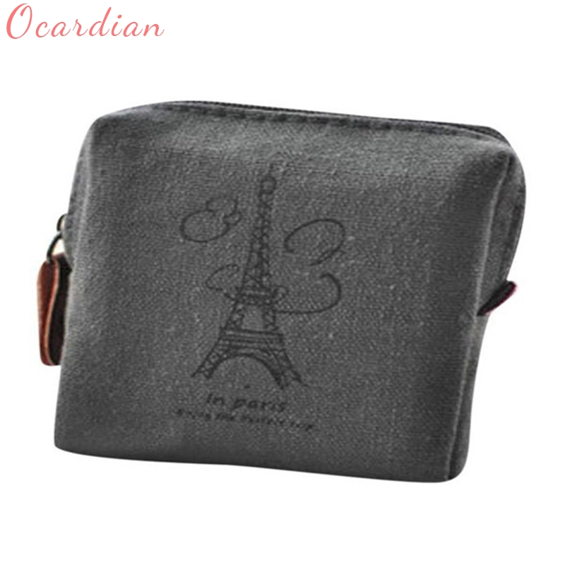 Ocardian Hot Sale Classic Retro Canvas Purse Wallet Card Key Coin Bag Pouch Case Coin Purses wholesale ##