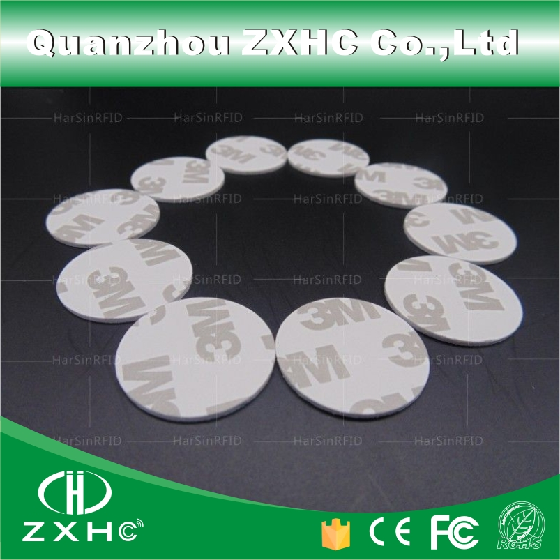 (10pcs/lot) 25mm 125Khz RFID Cards ID 3M Sticker Coin Cards TK4100 Chip Compatible EM4100
