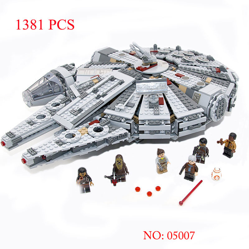 educational toys Star Wars Millennium Falcon Spaceship building blocks set Toys Action Figures educational 1381pcs for boy gifts military star wars spaceship aircraft carrier helicopter tank war diy building blocks sets educational kids toys gifts legolieds