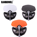 Rambowill Supermoto White/Black/Orange Motorcycle Headlight Fairing Kit 21 LED Light Bulb 6 LED At Top Right For StreetFighter