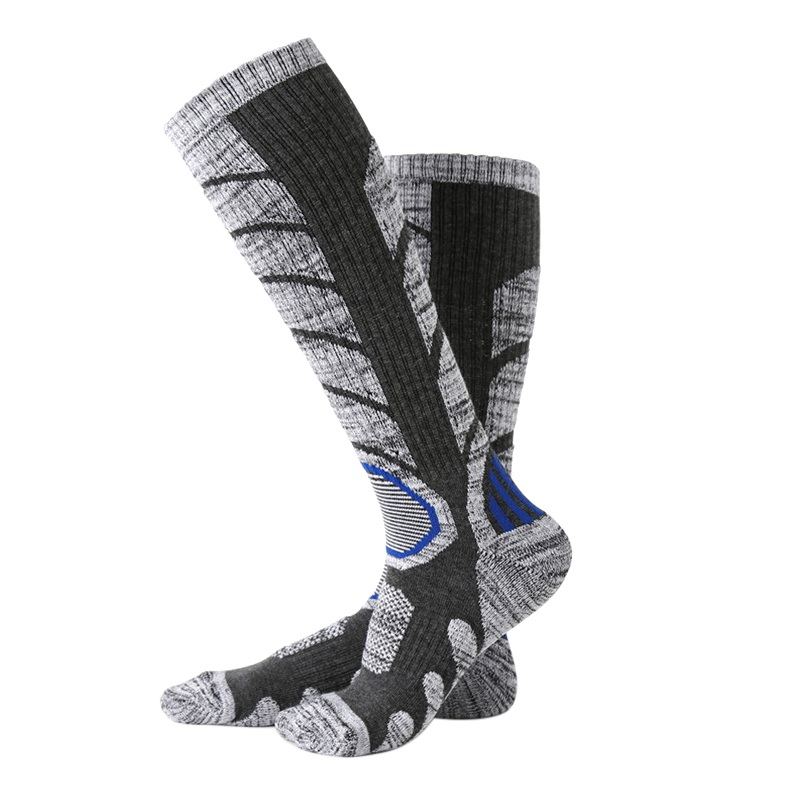 1 pair Unisex Compression Sport Sock Outdoor 40*9cm Sports Ski Running Soft Knee-High Tight Cotton Blend Socks