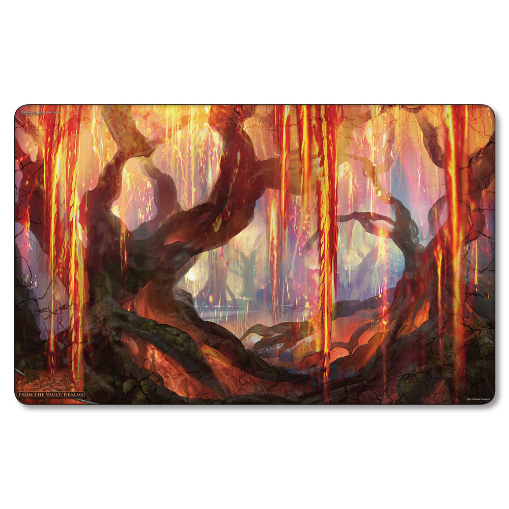 Magic Card Games Playmat Grove of the Burnwillows Play Mat Board Games, table Game Pad, 60cm x 35cm with free gift bag